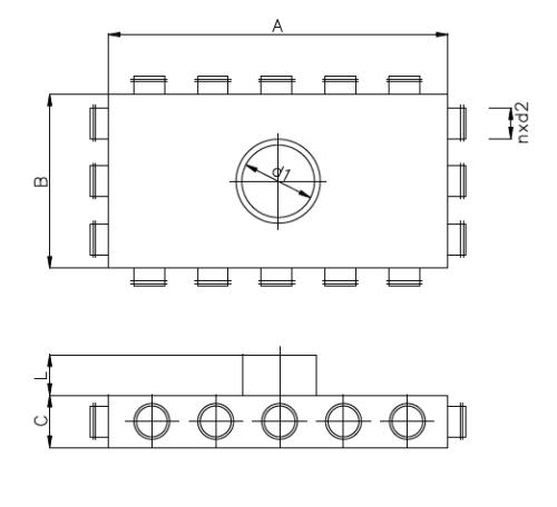 TP3079 Luftverteiler Maße