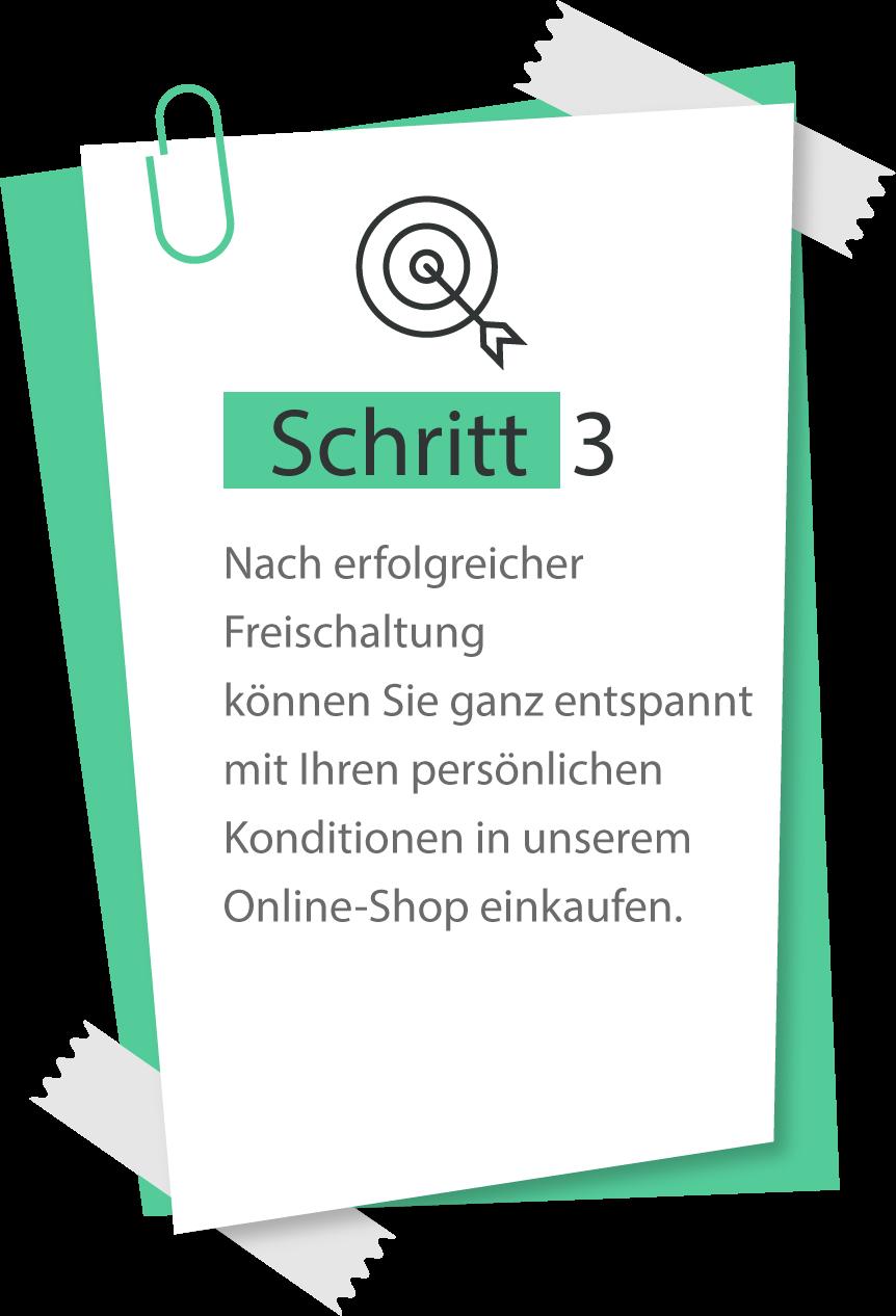Schritt 3 der Registrierung b2b
