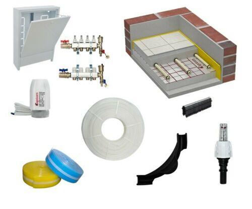 Fußbodenheizung Komplettset 100m²-Tackersystem inklusiv Komponenten