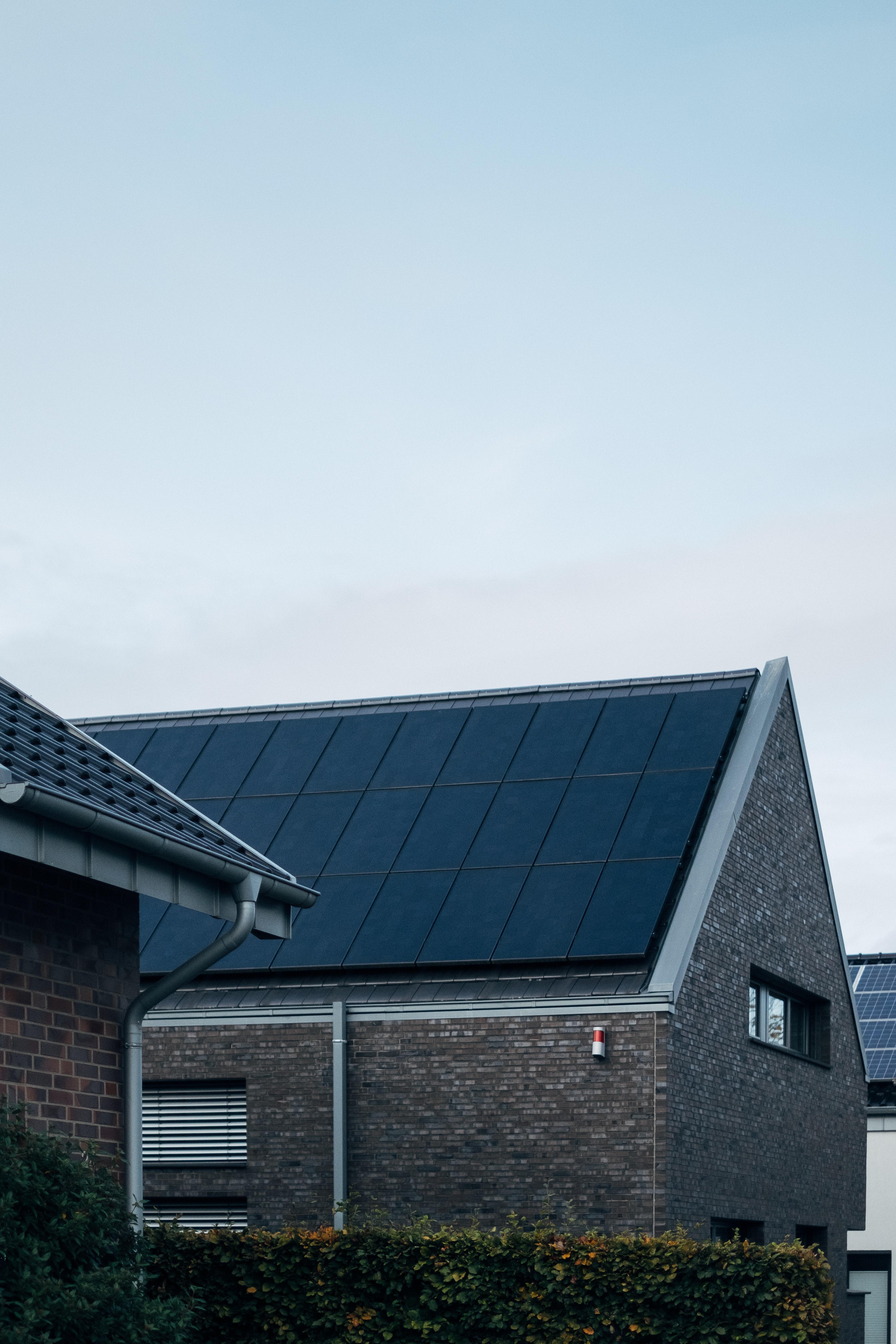 Kollektoren auf dem Dach integriert